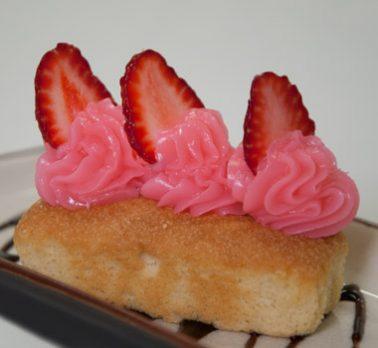 Mini bolo de Morango