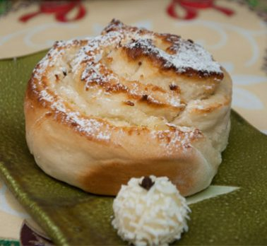 Pão Caracol de Coco