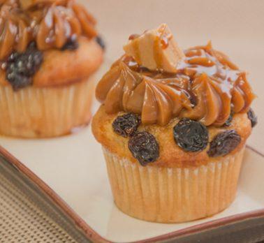 Muffin de Doce de Leite com Passas