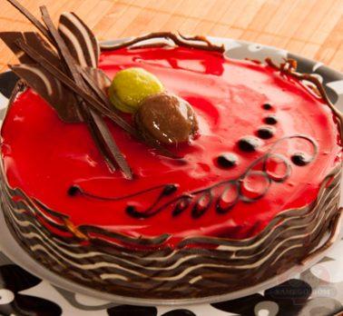 Torta Morango Crocante