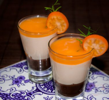 Verrine de Chocolate com Tangerina
