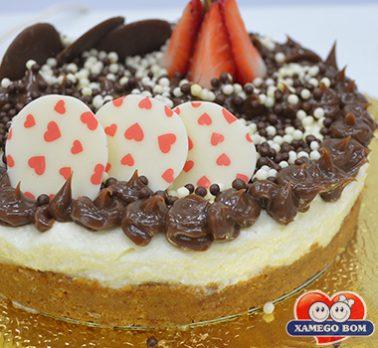 Cheese Cake de Laranja com Chocolate