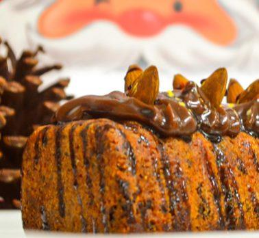 Bolo de Avelãs com Chocolate