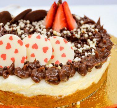 Cheesecake de Laranja com Chocolate