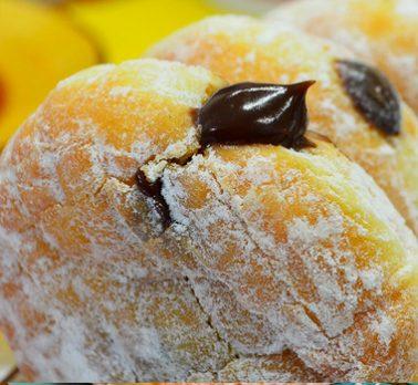 Donut de Doce de Leite com Chocolate