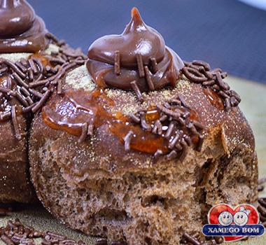 pão australiano de brigadeiro