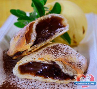Pastel de Forno de Brigadeiro e Café