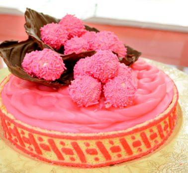 Torta de Brigadeiro Sabor Morango