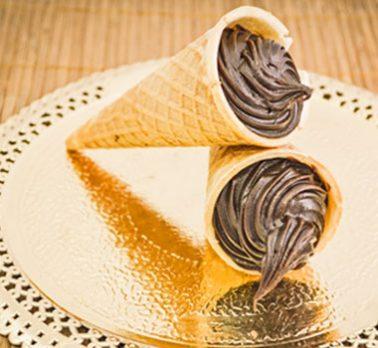Casquinhas Recheadas de Chocolate Intenso